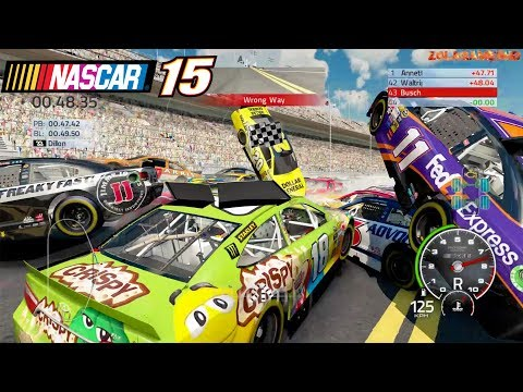Best Crashes in a Circle Simulator: Nascar'15 The Game 2018 Edition