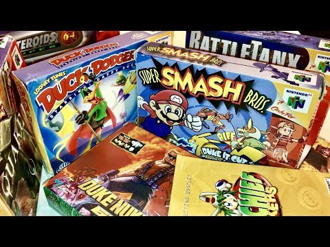 COMPLETE N64 COLLECTION! VIDEOS OF GAMEPLAY INCLUDED!! SUPER SMASH BROS 64!! #11