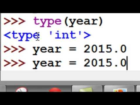 Python Numeric variables