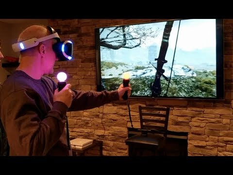 PSVR Skyrim! My Family Trys VR for the First Time! (Part 1: Stepdad!)