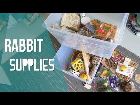 Organizing My Rabbit Supplies + Giveaway