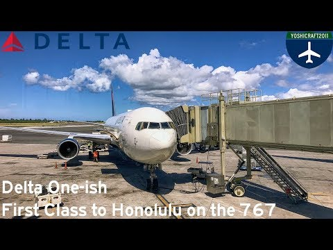 Delta One-ish - First Class to Honolulu on the 767 (DL1283, LAX-HNL)