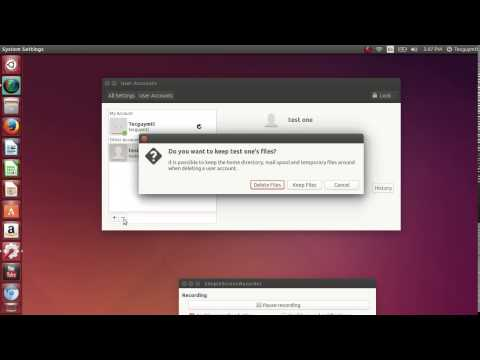 Manage user accounts in Ubuntu 14.04 add remove user accounts and change passwords