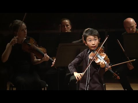 Ten-year-old Australian violin prodigy named youngest ever winner at Menuhin– video
