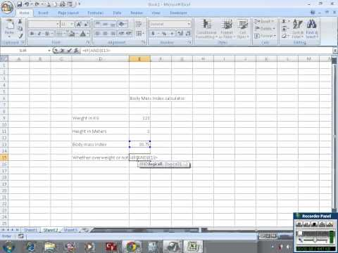 Calculate Body Mass Index (BMI) in Excel