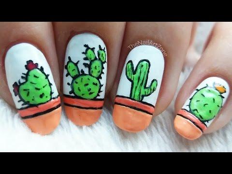 Nail art n°46 | Cactus nail art
