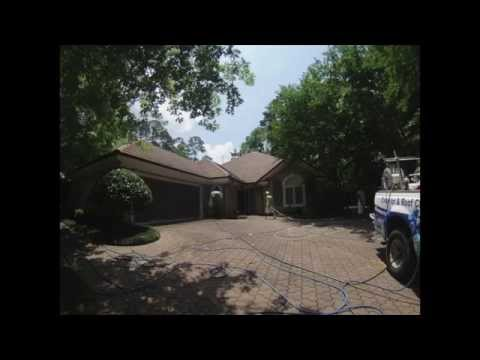 Pressure Washing Tallahassee - Softwash of a concrete tile roof - 32312