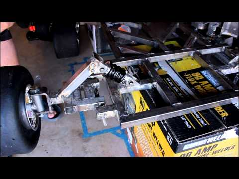 (Homemade) Go Kart Build Project 13: Front Shocks Mounted!!