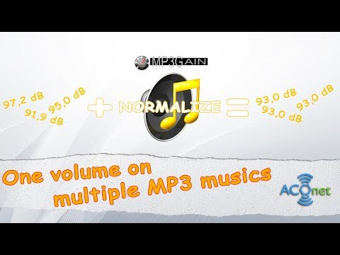 Set the same volume to multiple mp3 at once files with MP3Gain