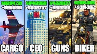 GTA 5 ONLINE - TOP 5 BEST BUSINESSES TO BUY & MAKE MONEY! (CEO, BIKERS, SMUGGLER