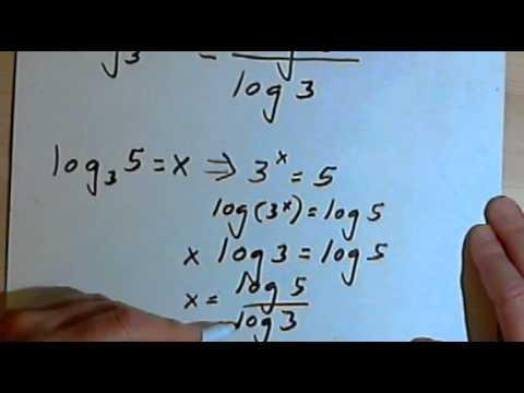 Change of Base Rule for Logarithms 143-5.3.4