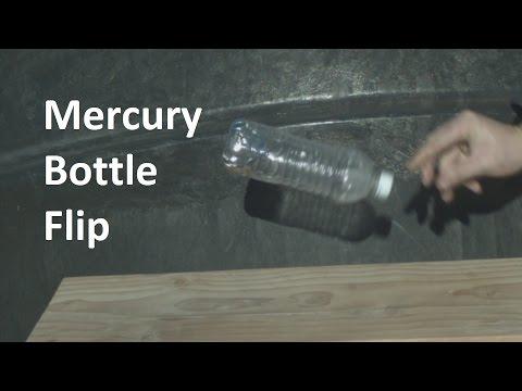 Water Bottle Flip With Mercury in Slow Motion