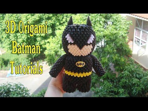 HOW TO MAKE 3D ORIGAMI BATMAN | DIY PAPER BATMAN