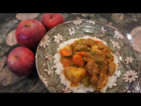 How to make Japanese Chicken Curry (with Apples and Ginger) チキンカレーの作り方