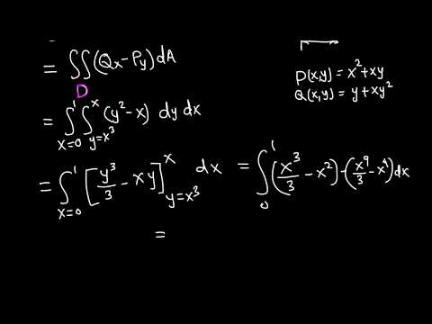 Calc III: Line integral using Green's theorem example 4/5
