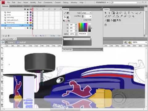 Learn To Make Flash Games - Game University - F1 Racing Car