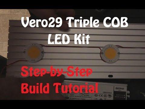 Vero29 Triple COB Array Build - Step by Step Tutorial (COB LED)