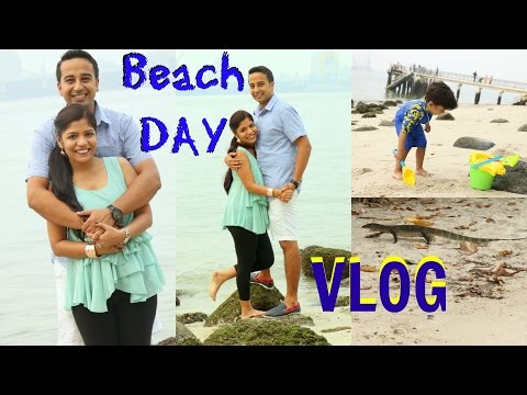 Singapore Punggol Beach VLOG | SCARY Dragon Lizard | Day in My Life | SuperPrincessjo