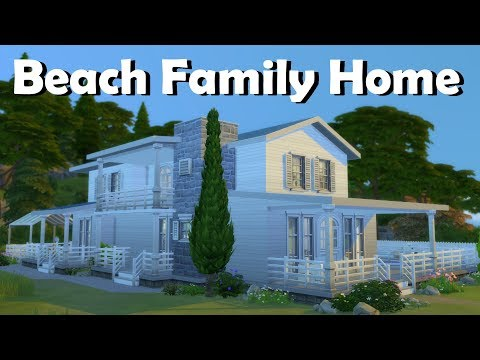 Sims 4 | House Building | Beach Family Home