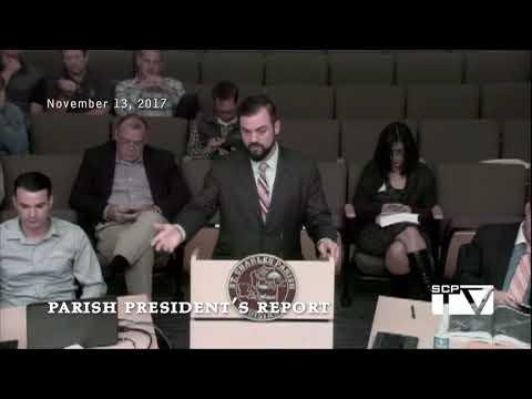 Parish President's Report for November 13, 2017