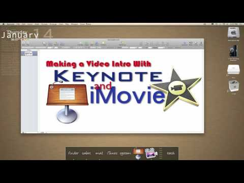 Using Keynote & iMovie for Text/Title Effects
