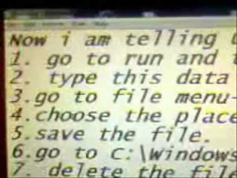 HOW TO SAVE .INI FILES IN WINDOW 7.wmv