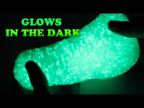 HOW TO MAKE GLOW IN THE DARK SLIME PUTTY DIY
