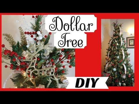 DIY Dollar Tree Christmas Decor 2017 🎄 Tree Topper for under $10 |   Decorate with Us