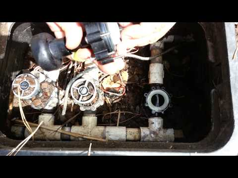 How to fix sprinkler valve that wont shut off