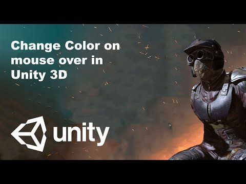Chnage Color on mouse over in Unity3D