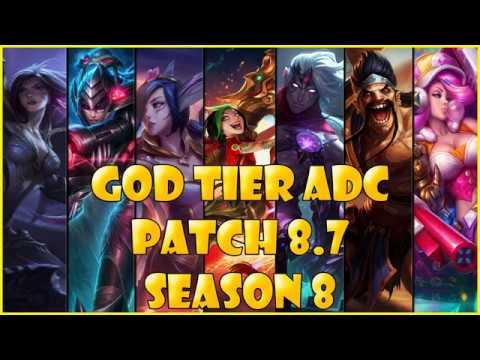 Best ADC | God Tier | patch 8.7 Season 8 League of legends