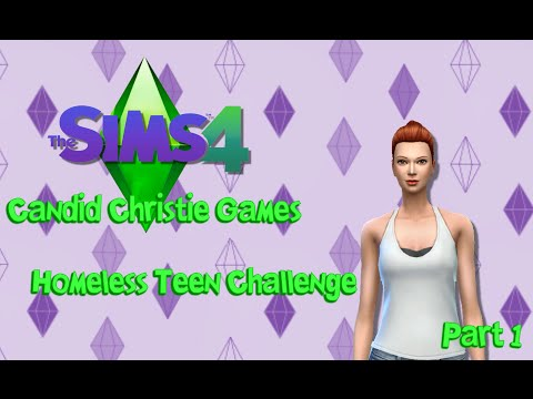 The Sims 4 Homeless Teen Challenge   Starving & Stinky!