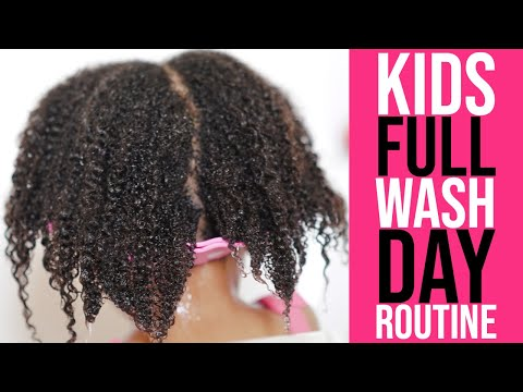 Washing Little Girls Natural Hair (Kids FULL Wash Day Routine) (Start To Finish) (3 SIMPLE Steps)
