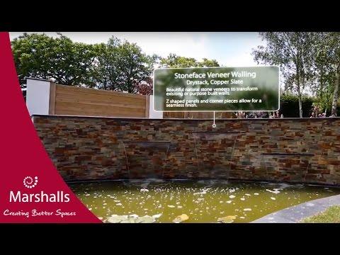 Veneer Walling   Stoneface   Garden Fly-Through   MarshallsTV