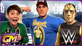 WWE WRESTLING AT CHRISTMAS - Kids Parody with WWE Toys & Santa!! 🎅🏻