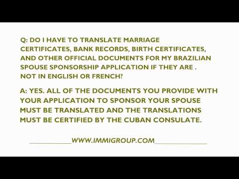 Do I Have To Translate Brazilian Documents For A Canadian Spousal Sponsorship Application?