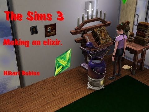 The Sims 3: Making an elixir.