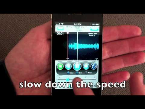 riffmaster pro iphone slowing down a song keep the pitch