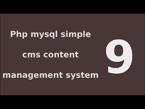 php mysql simple cms content management system tutorial - 9 Create Add page Functionality B
