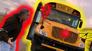 TURNED HIS SCHOOL BUS INTO A REINDEER!! HILARIOUS REACTION!!   ClawBoss