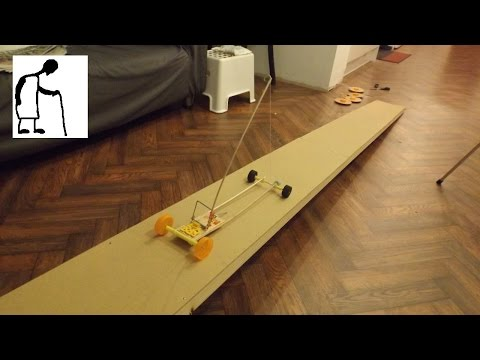 Mouse Trap Powered Car goes up a slope
