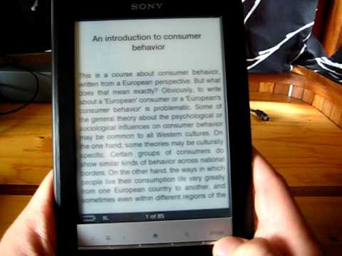 Sony PRS-600 eReader Review