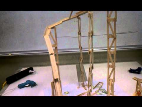 LOKI'S REVENGE!!!! - Popsicle stick rollercoaster
