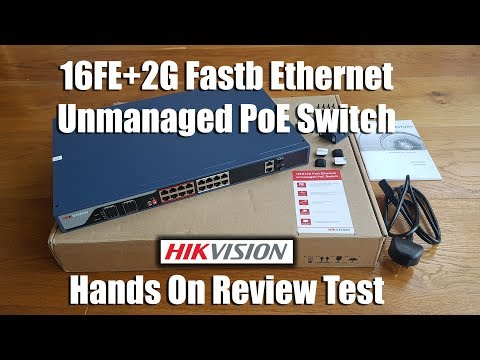 Hikvision DS-3E0318P-E 16-ports 100Mbps Unmanaged PoE Switch [Hand on Review and Test]
