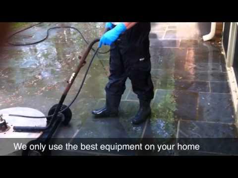 Pressure Washing Bricks Tiles Flagstone And Slate