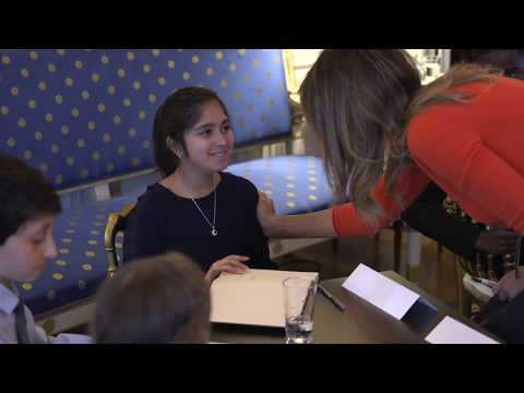 First Lady Melania Trump Hosts a Listening Session with Students