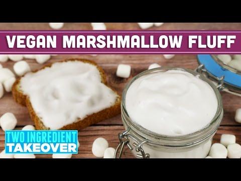 Two Ingredient Vegan Marshmallow Fluff | Aquafaba Recipe - Mind Over Munch