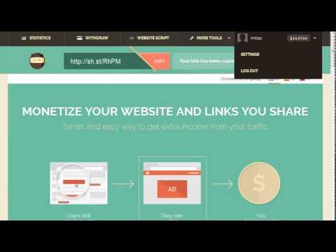 How to earn money by link shortener urdu hindi tutorial 2