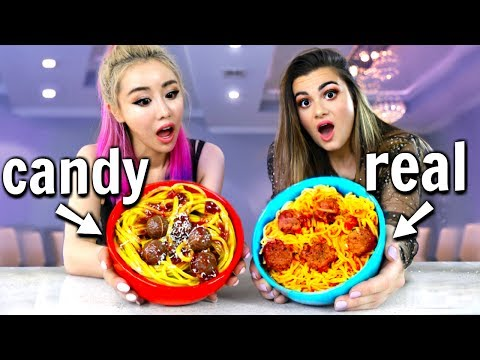 Making FOOD out of CANDY! Candy vs Food Challenge ft. Wengie