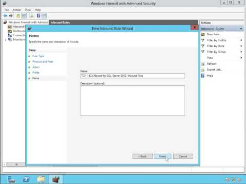 8Enable Inbound and Outbound Rules To Open TCP Port 1433 For SQL Server 2012 instances